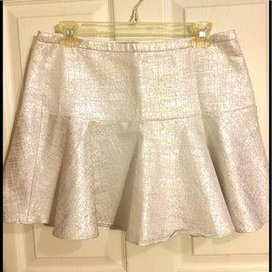 Express white silver skirt